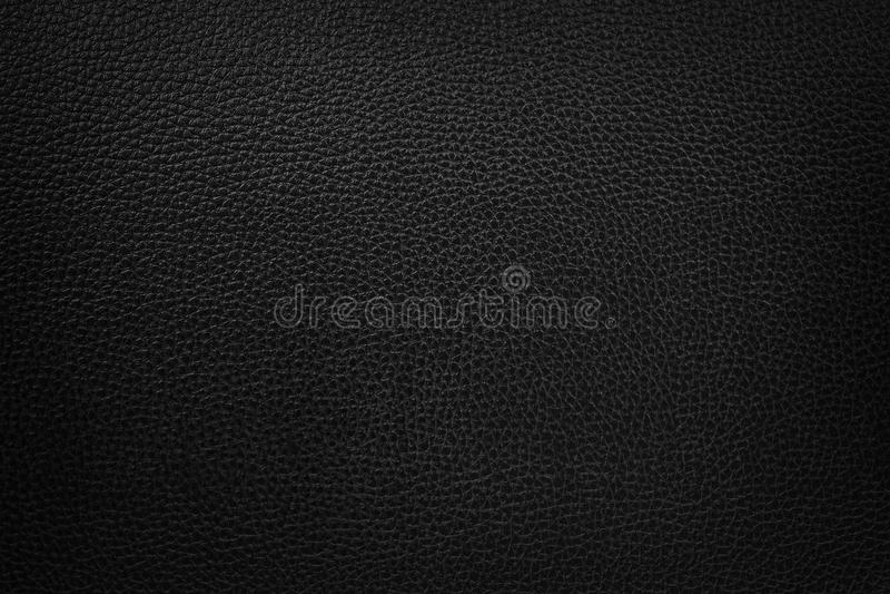 Fond en cuir noir de texture image libre de droits