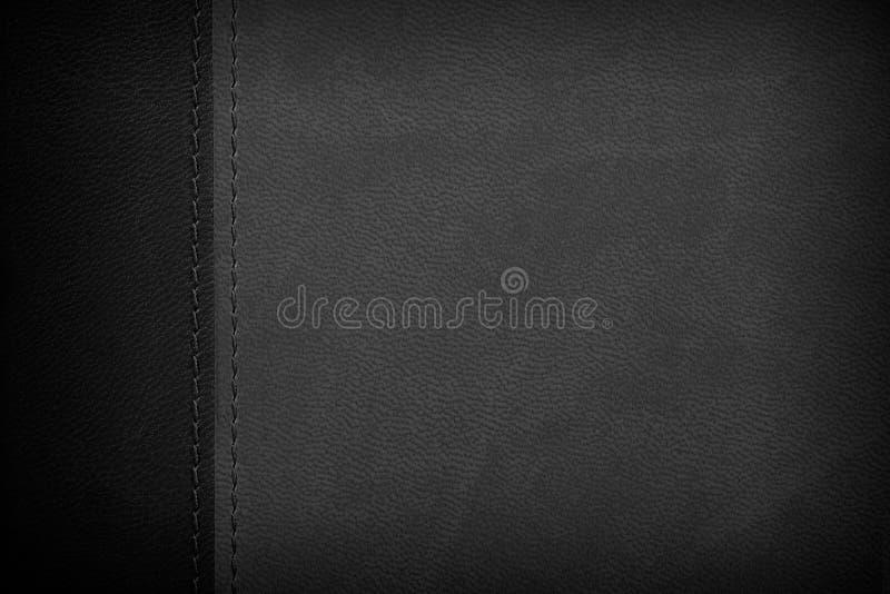 Fond en cuir noir et blanc photos stock