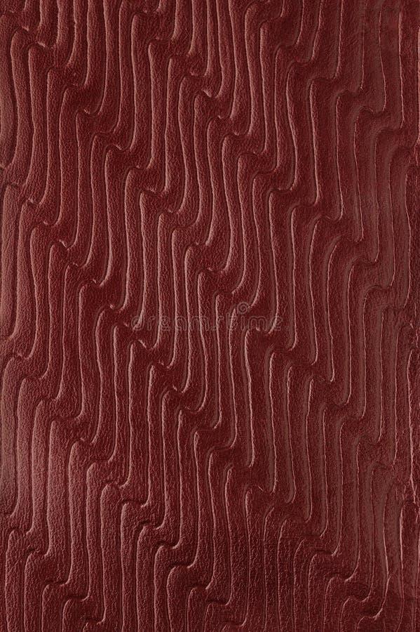 Fond en cuir rouge image stock