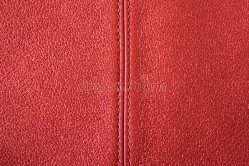 Fond en cuir rouge photographie stock