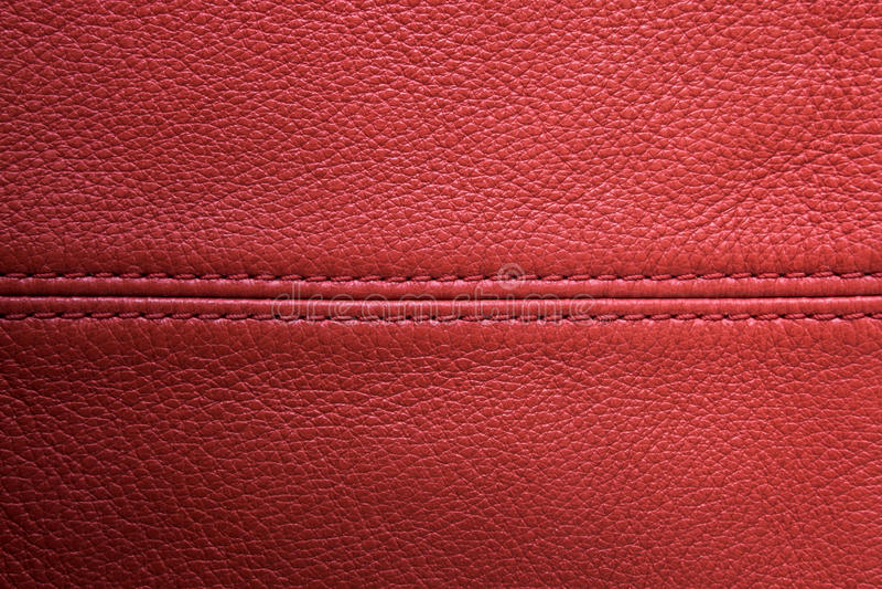 Fond en cuir rouge photos stock