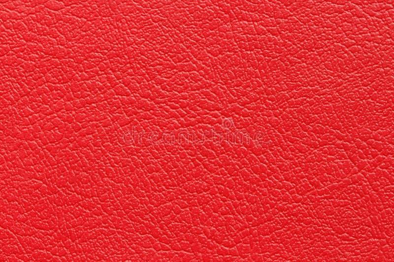 Fond en cuir rouge de texture image libre de droits