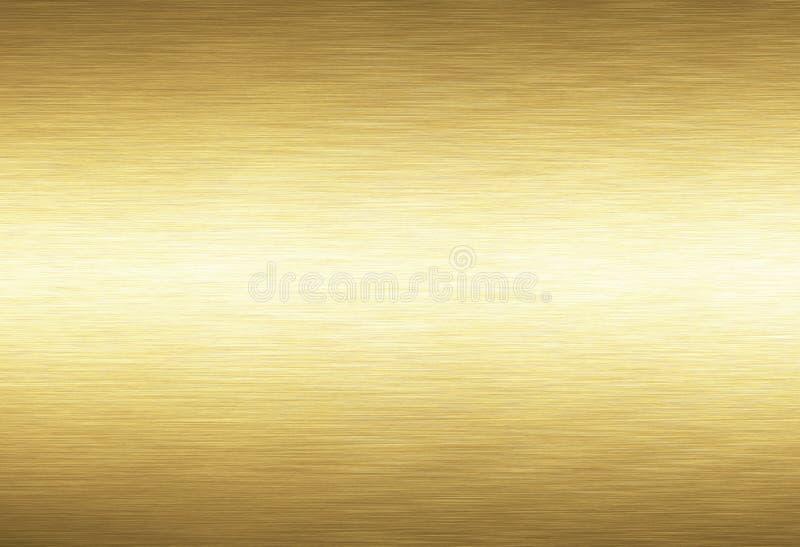 Fond en métal d'or illustration de vecteur