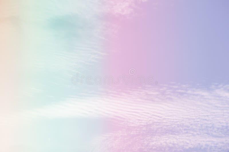 Fond en pastel abstrait de la belle surface de ciel images libres de droits