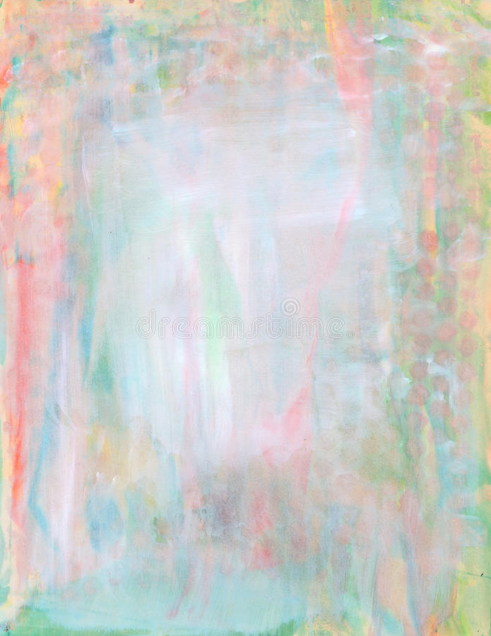 Fond En Pastel Abstrait De Peinture D'Aquarelle Illustration Stock