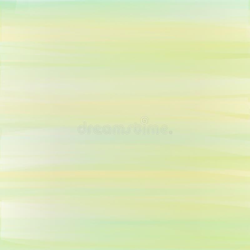 Fond en pastel avec des traçages dans des couleurs jaune-clair, vertes et bleues illustration stock