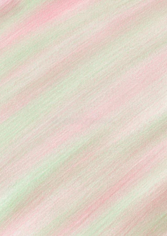 Fond en pastel avec des traçages dans des couleurs vertes, rouges et roses illustration de vecteur