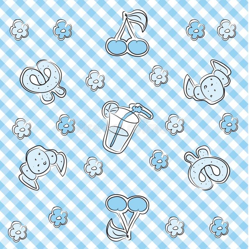 Fond en pastel bleu de chéri illustration de vecteur