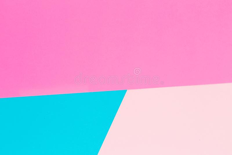 Fond en pastel bleu et rose Configuration plate Vue supérieure photo libre de droits