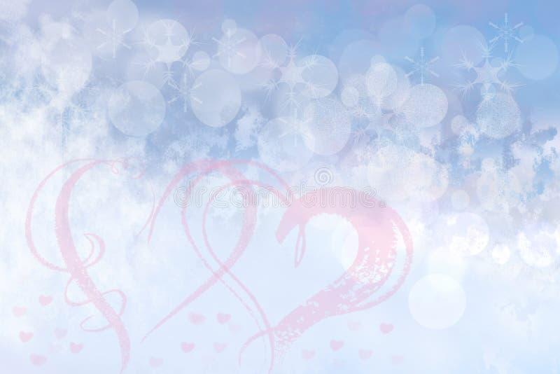 Fond en pastel bleu lumineux de tache floue de fête abstraite avec le rose il photo stock