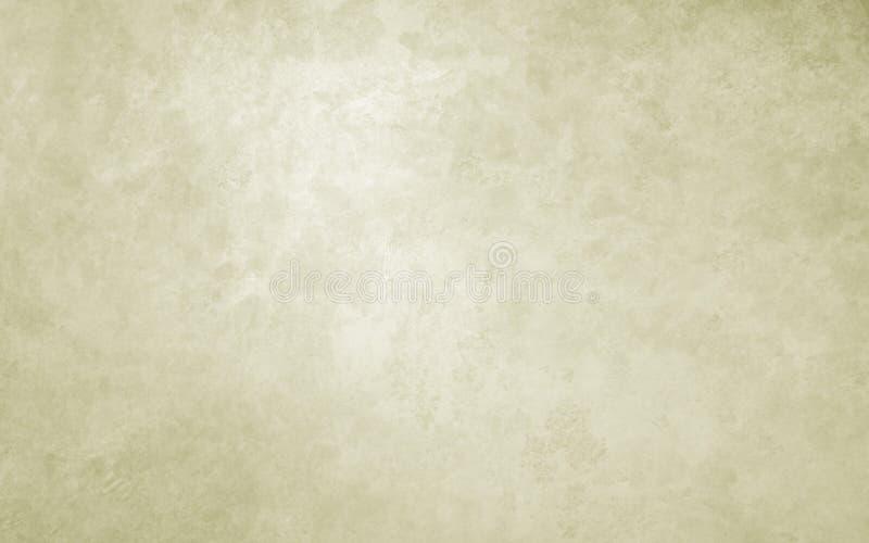 Fond en pastel clair d'or avec la texture Couleur beige ou crème pâle douce avec la texture grunge chinée de vieux cru illustration libre de droits