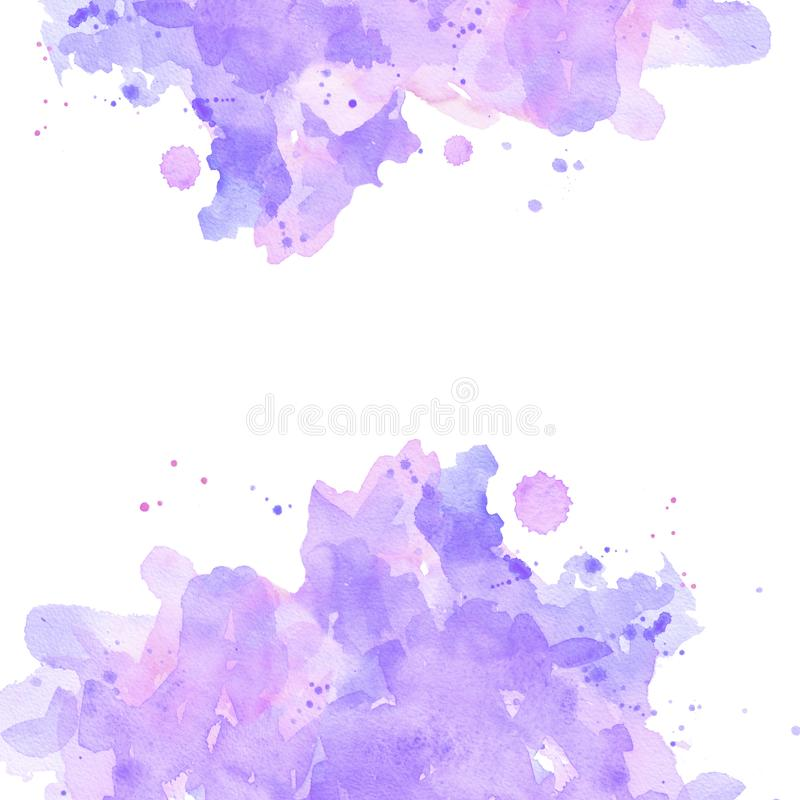 Fond en pastel de taches roses d'abrégé sur carré aquarelle illustration de vecteur