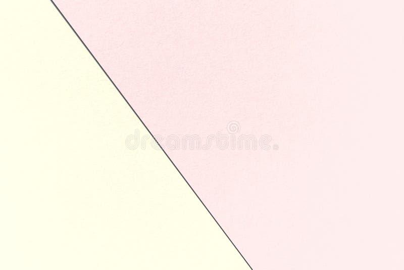 Fond en pastel géométrique de résumé avec des couleurs de Misty Rose et de Cornsilk, texture de papier d'aquarelle illustration stock