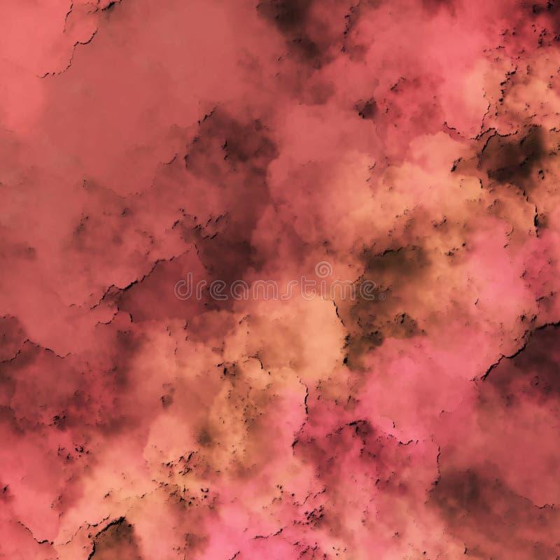 Fond en pastel sale avec la surface stridente Regard rouillé-poussiéreux vibrant illustration stock