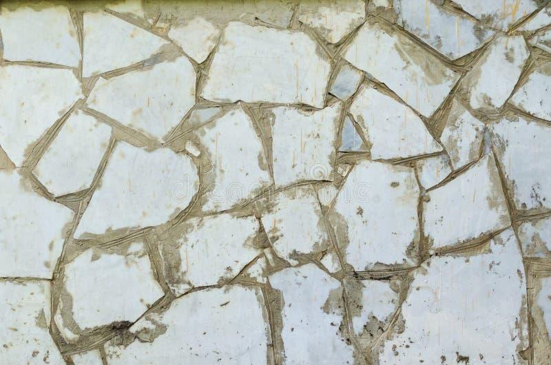 Fond en pierre blanc de texture de mosaïque photo stock