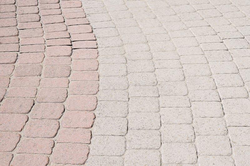 Fond en pierre coloré de trottoir photographie stock