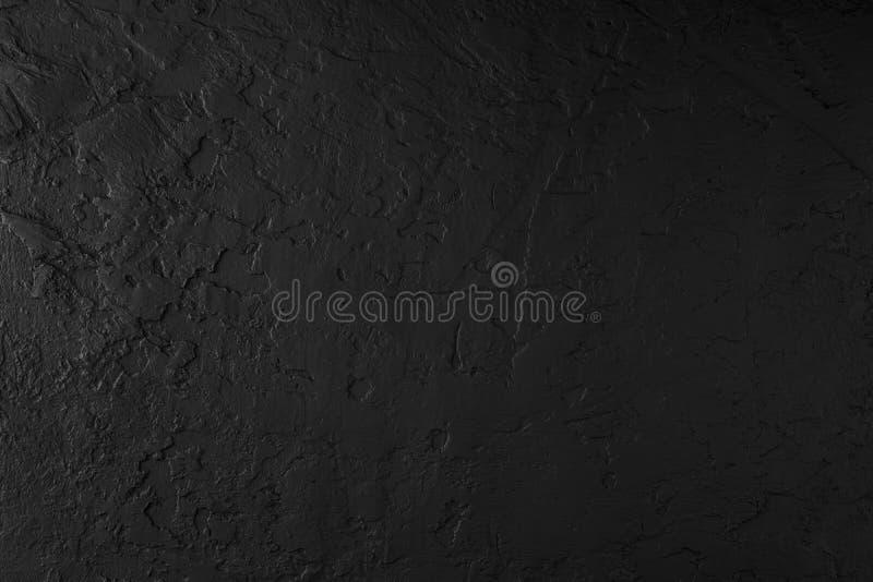 Fond en pierre noir, texture grise de ciment Vue supérieure, configuration plate photographie stock