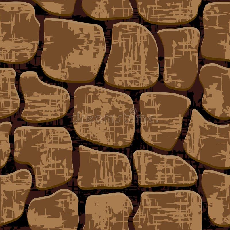 Fond en pierre. Texture sans couture. illustration de vecteur