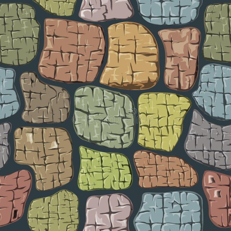 Fond en pierre Texture sans joint illustration stock