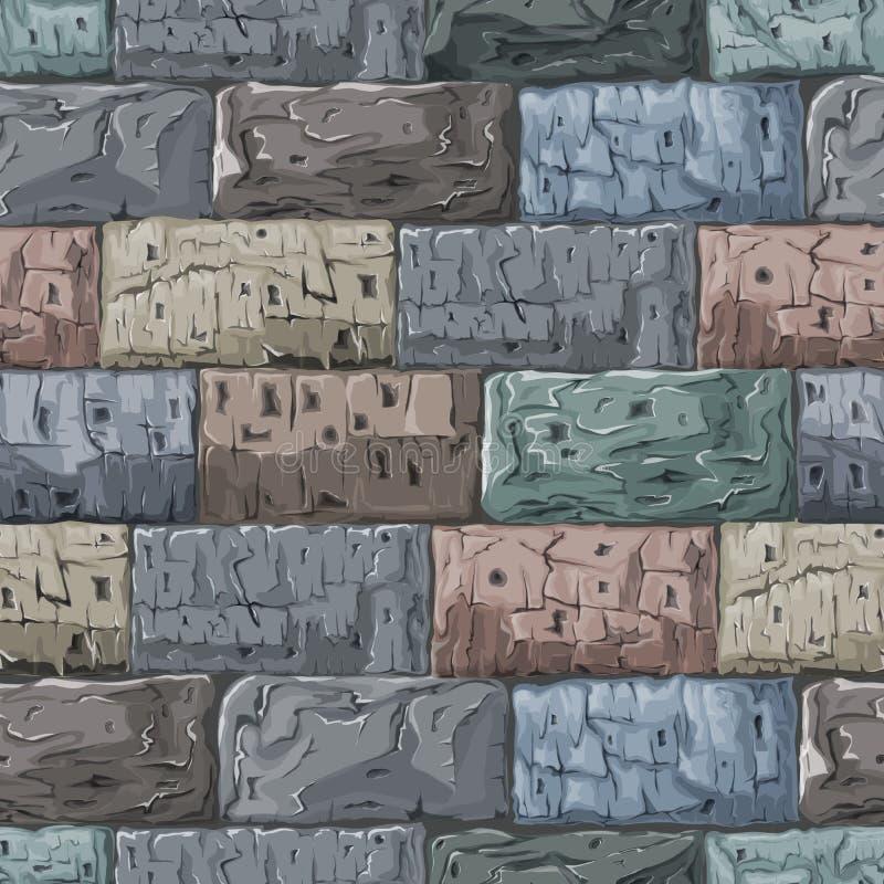 Fond en pierre Texture sans joint illustration de vecteur