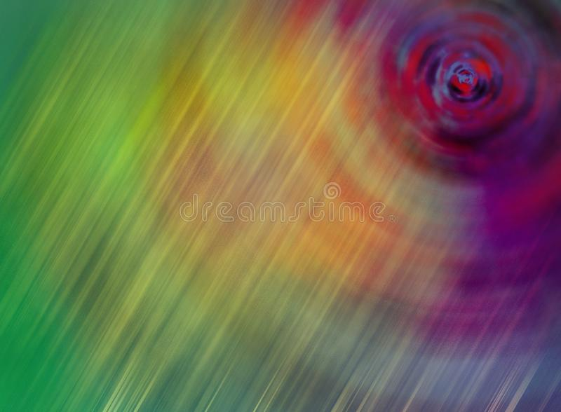 Fond en spirale à l'éclat de Sun image stock