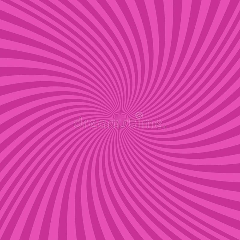Fond en spirale abstrait rose de conception illustration stock
