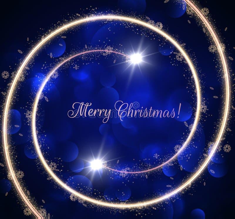 Fond en spirale d'or de Noël avec des spirales brillantes Vecteur eps10 illustration libre de droits