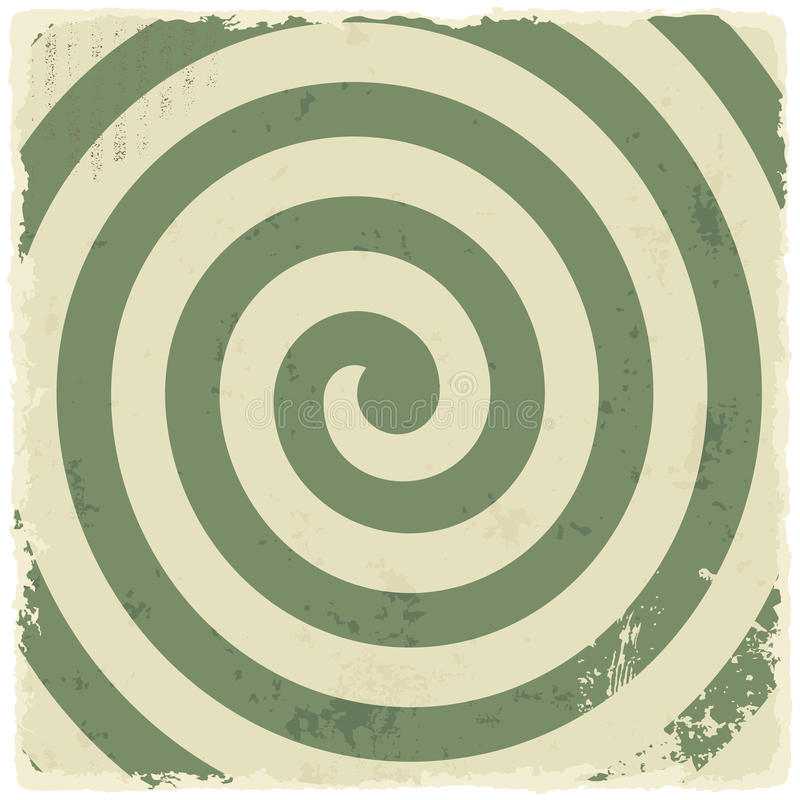 Fond en spirale grunge de rétro vintage Vecteur illustration stock