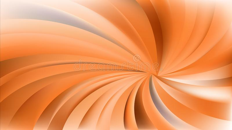Fond en spirale radial orange de rayons illustration libre de droits