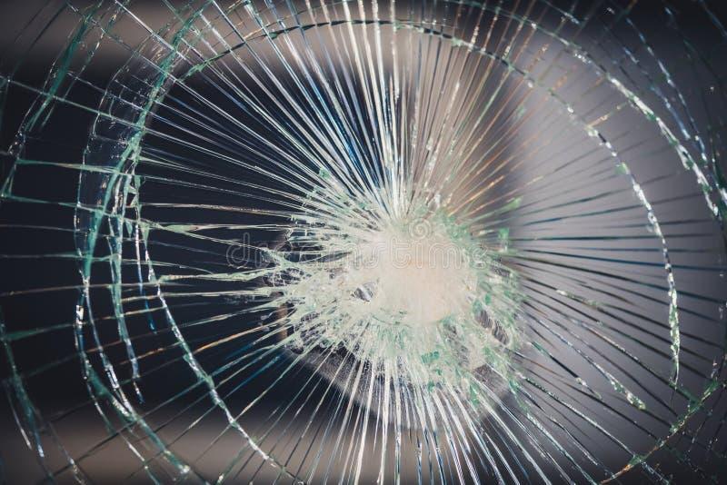 Fond en verre cassé brisé de texture image libre de droits