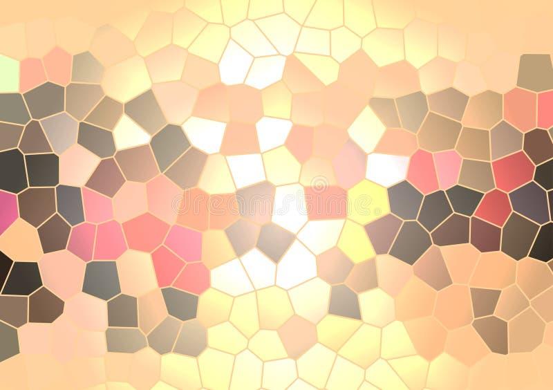 Fond en verre d'usage d'art de mosaïque illustration stock