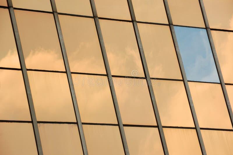 Fond en verre de panneau de façade photos libres de droits