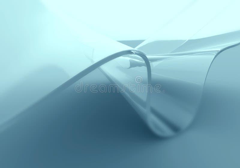 Fond en verre géométrique transparent d'abrégé sur vague illustration de vecteur