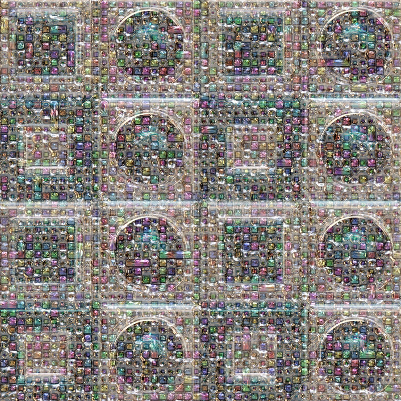 Fond en verre illustré par abstrait image stock