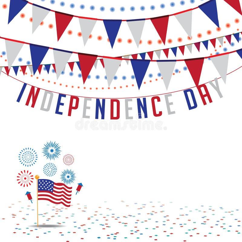 Fond ENV 10 d'étamine de Jour de la Déclaration d'Indépendance illustration stock