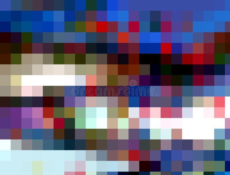 Fond espiègle de places, couleurs, les géométries, fond lumineux, les géométries colorées illustration de vecteur