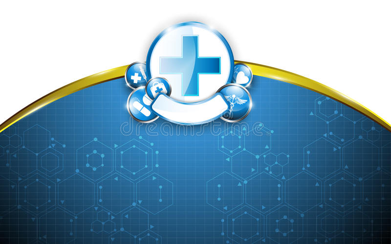 Fond et cadre médicaux de conception de la science de concept de soins de santé illustration stock