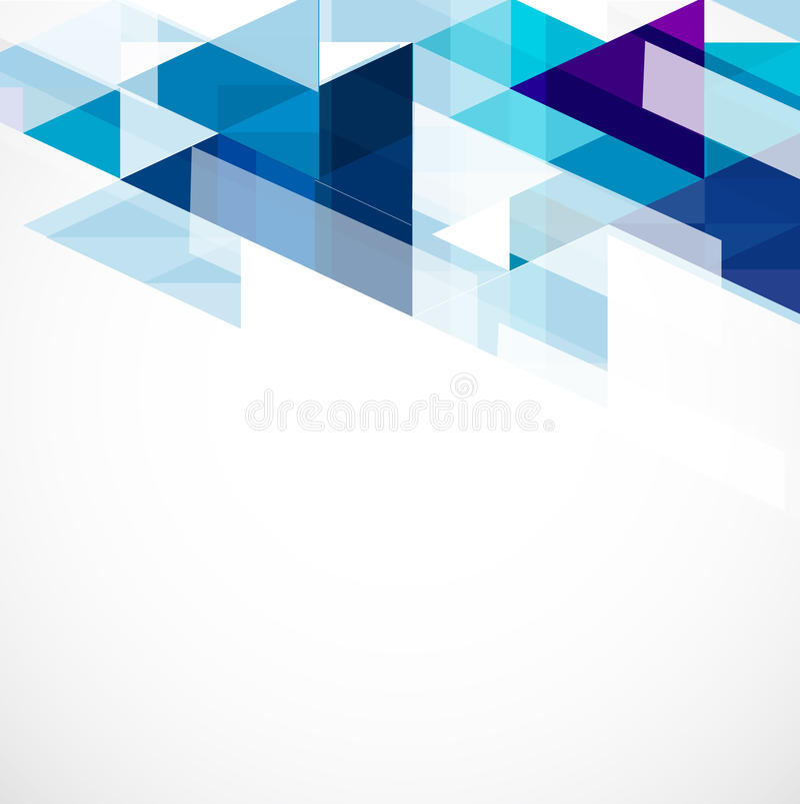 Fond et espace bleus modernes de polygone pour votre texte illustration stock