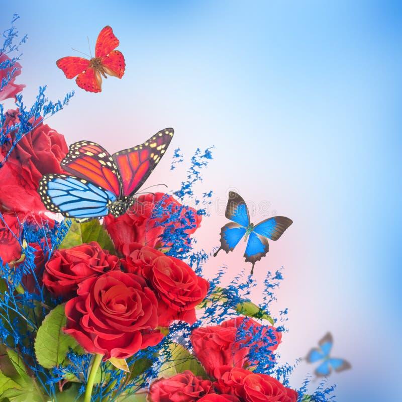 Fond et papillon floraux photo libre de droits