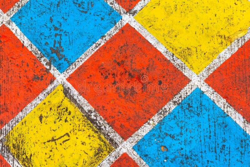 fond et texture colorés de mur de modèle de grille photos stock