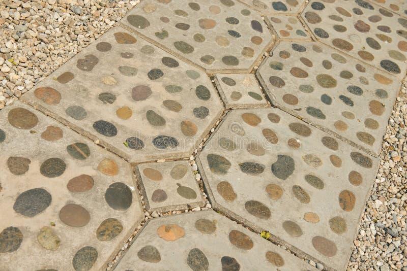 Fond et texture de décoration de chemin de pied de roche images libres de droits