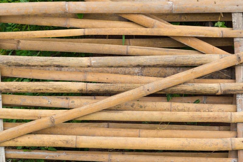 Fond et texture en bambou de mur de barrière photos libres de droits