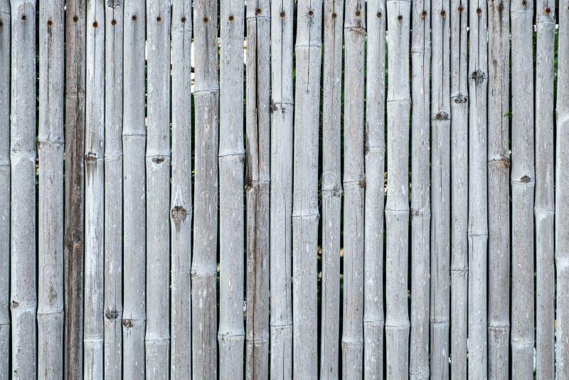 Fond et texture en bambou de mur de barrière photo stock