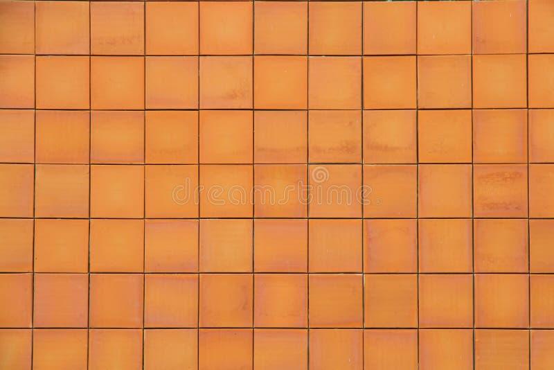 Fond et texture sans couture de carrelage de poterie de terre de Brown photographie stock libre de droits