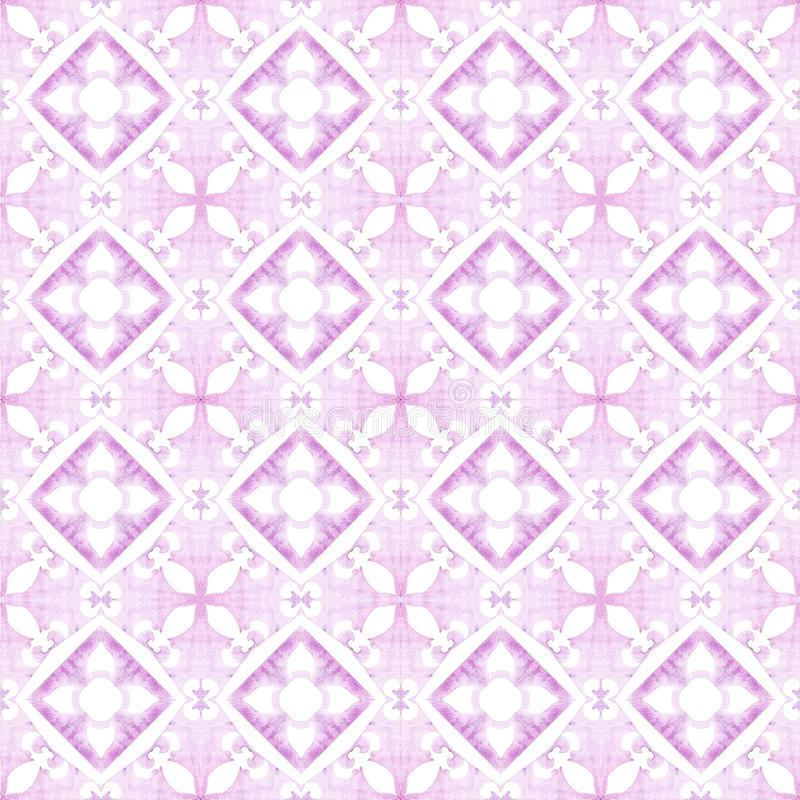 Fond ethnique de tuile d'indigo sans couture image stock