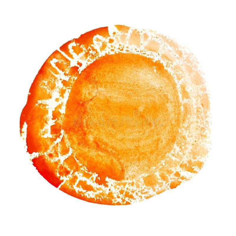 Fond expressif tiré par la main orange illustration de vecteur