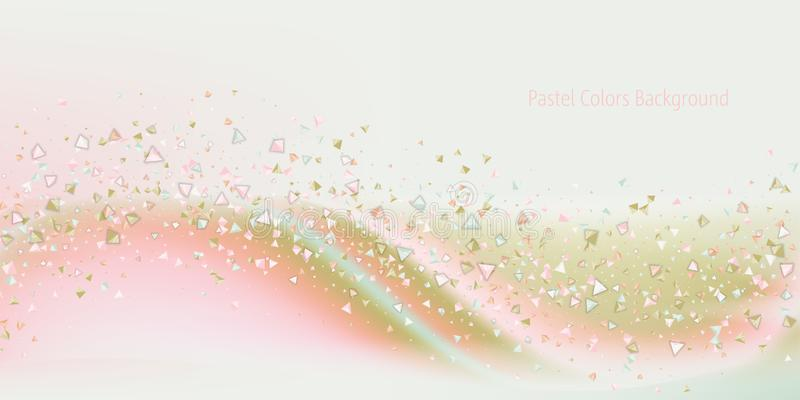 Fond féerique de la poussière de couleurs en pastel illustration stock