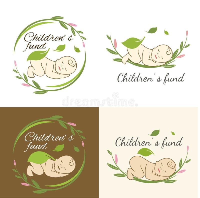 Fond för barn` s stock illustrationer