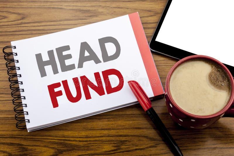 Fond för huvud för visning för handskriftmeddelandetext Affärsidé för investeringfinansieringpengar som är skriftliga på notepada arkivfoton