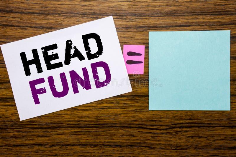 Fond för huvud för visning för handskriftmeddelandetext Affärsidé för investeringfinansieringpengar som är skriftliga på klibbigt arkivbild